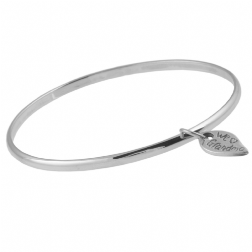 Silver Bangle And Name Tag